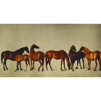 Tableaux de faune - Tableau -Mares and Foals- (caballos) - Stubbs, George