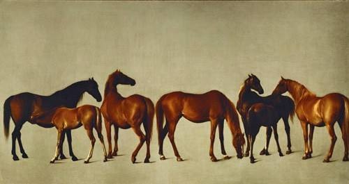 tableaux-de-faune - Tableau -Mares and Foals- (caballos) - Stubbs, George