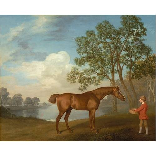 Tableau -Pumpkin with a Stable-lad- (caballos)