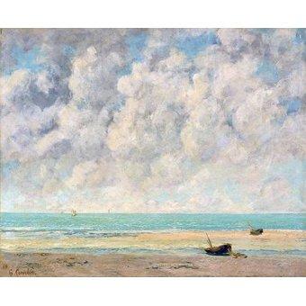 Tableaux de paysages marins - Tableau -El mar en calma- - Courbet, Gustave