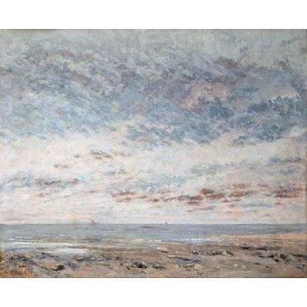 Tableaux de paysages marins - Tableau -Marea baja en Trouville, 1865- - Courbet, Gustave
