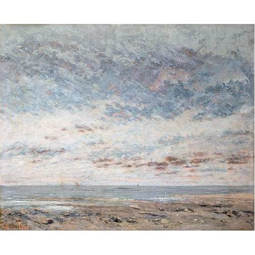 Tableau -Marea baja en Trouville, 1865-