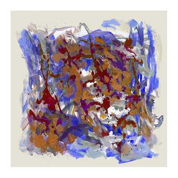 pinturas abstratas - Quadro -Mapa de Europa-