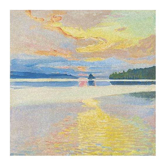 pinturas de paisagens - Quadro -Paisaje Lago Norte-