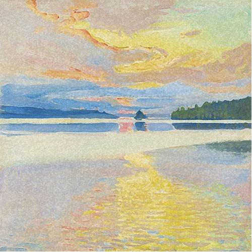 Tableau -Paisaje Lago Norte-
