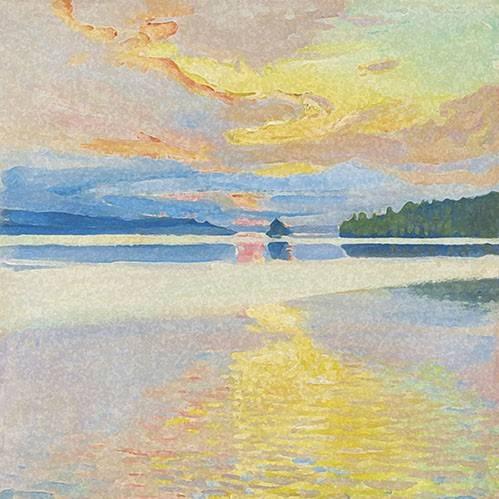 tableaux-de-paysages - Tableau -Paisaje Lago Norte- - Ricardo, Emilio