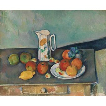 Tableaux nature morte - Tableau - Nature morte avec fruits et pot - - Cezanne, Paul