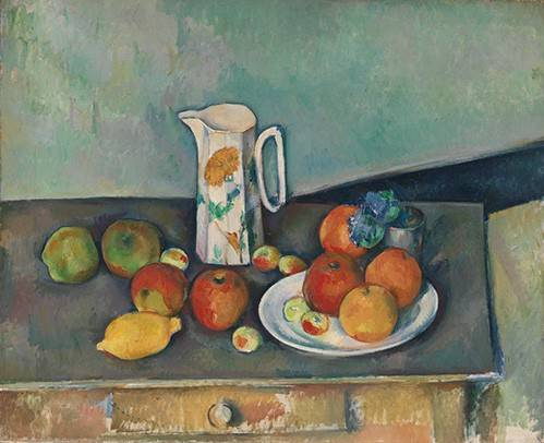 tableaux-nature-morte - Tableau - Nature morte avec fruits et pot - - Cezanne, Paul