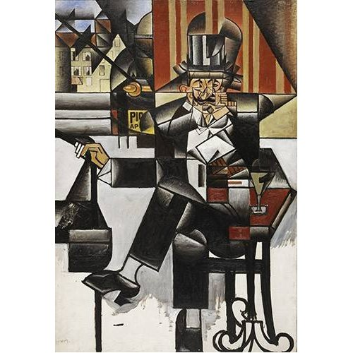 Tableau -Man in a cafe-