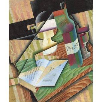 Tableaux abstraits - Tableau -Le livre- - Gris, Juan
