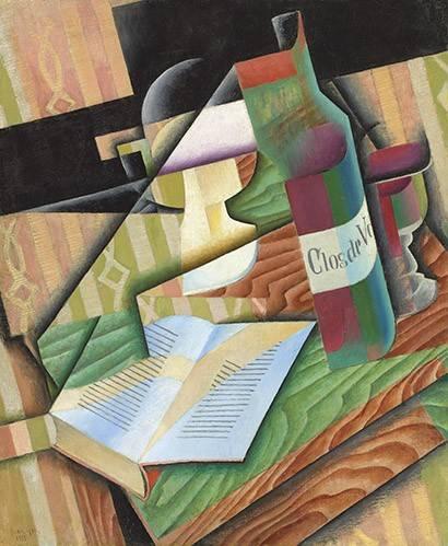tableaux-abstraits - Tableau -Le livre- - Gris, Juan