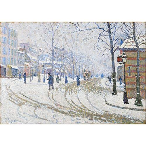 Tableau -Snow, Boulevard de Clichy, Paris-