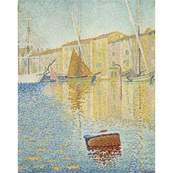 Tableaux de paysages marins - Tableau -La Bouée rouge, Saint-Tropez, 1895- - Signac, Paul