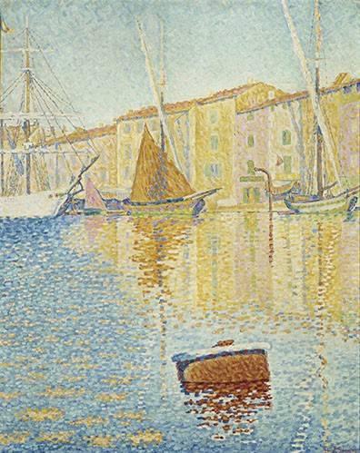 tableaux-de-paysages-marins - Tableau -La Bouée rouge, Saint-Tropez, 1895- - Signac, Paul