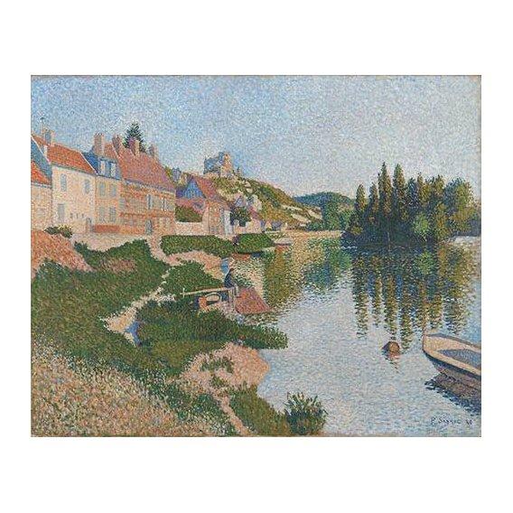 pinturas de paisagens - Quadro -Les Andelys-