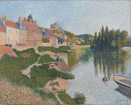 tableaux-de-paysages - Tableau -Les Andelys- - Signac, Paul