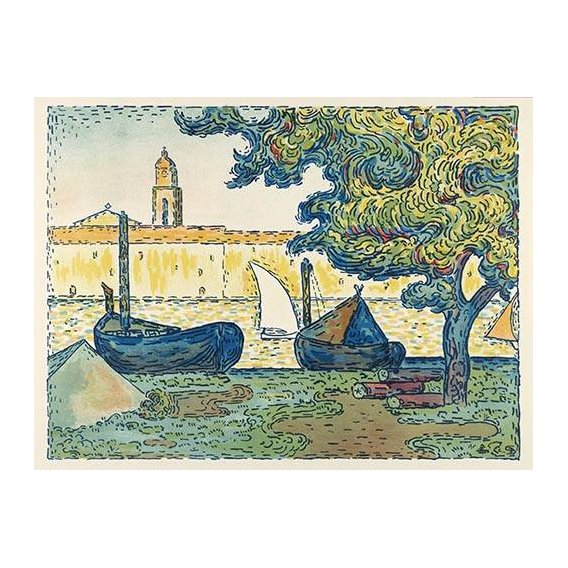 pinturas de paisagens - Quadro -Saint-Tropez-
