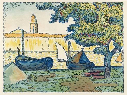 tableaux-de-paysages - Tableau -Saint-Tropez- - Signac, Paul