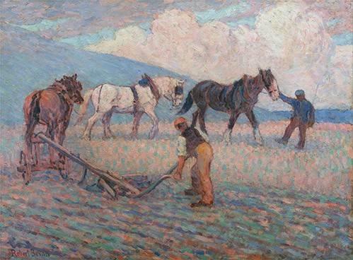 tableaux-de-paysages - Tableau -The Turn Rice-Plough, Sussex- - Bevan, Robert