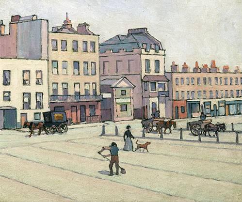 tableaux-de-paysages - Tableau -The Weigh House, Cumberland Market- - Bevan, Robert