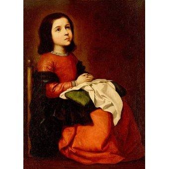 Tableaux religieuses - Tableau -L'enfance de la vierge- - Zurbaran, Francisco de