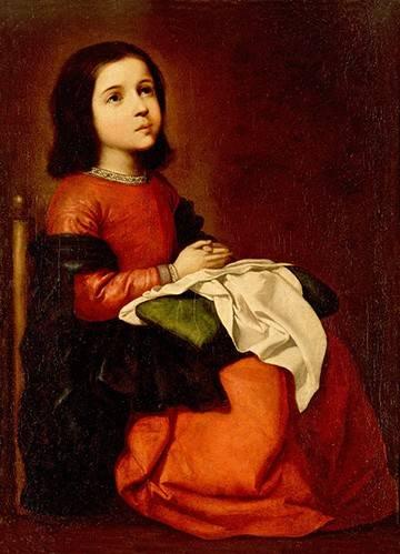 tableaux-religieuses - Tableau -L'enfance de la vierge- - Zurbaran, Francisco de