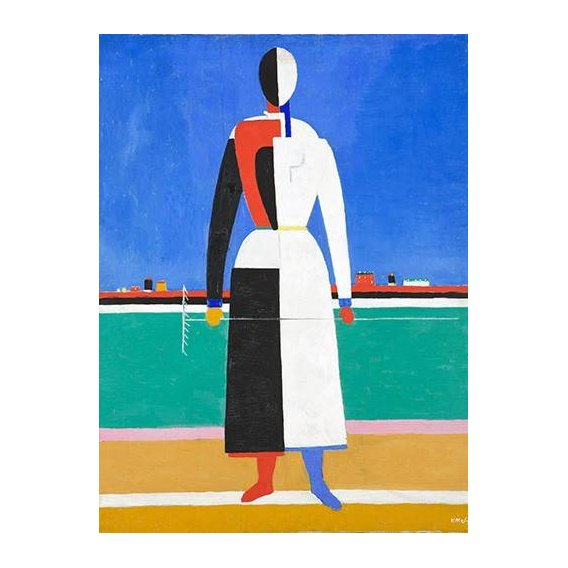 pinturas abstratas - Quadro -Woman with rake, 1930-32-