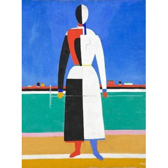 Tableaux abstraits - Tableau -Woman with rake, 1930-32- - Malevich, Kazimir S.