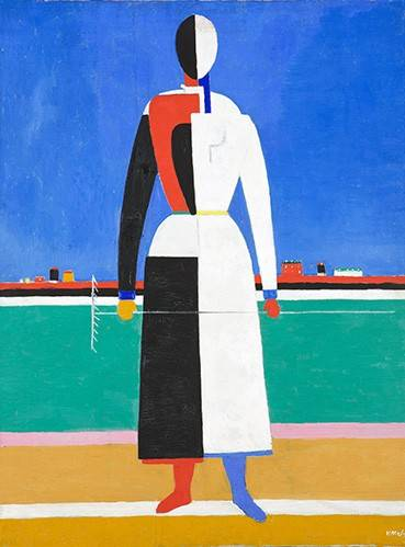 tableaux-abstraits - Tableau -Woman with rake, 1930-32- - Malevich, Kazimir S.