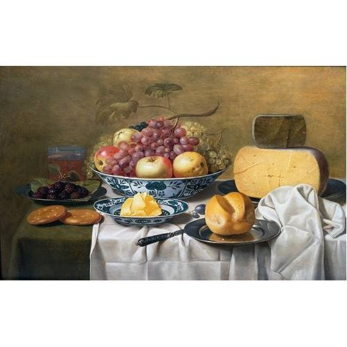 naturezas mortas - Quadro -Still Life of Fruit and Cheese-