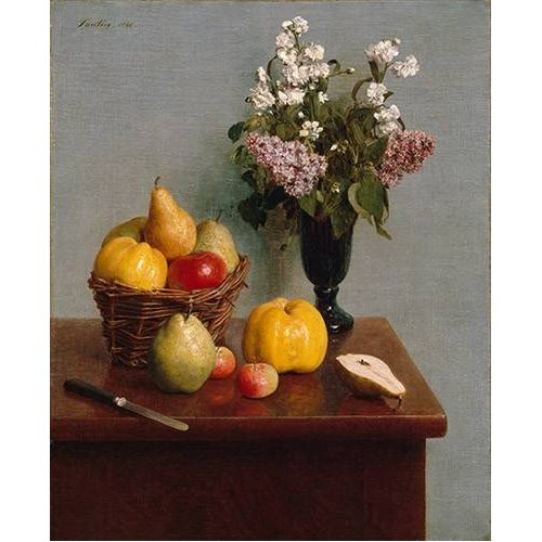 Tableau -Still Life with Flowers and Fruit-