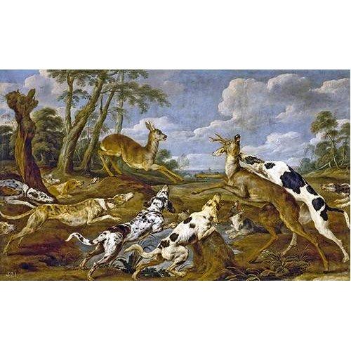 fotos de fauna - Quadro -Cazeria de corzos (Caza)-