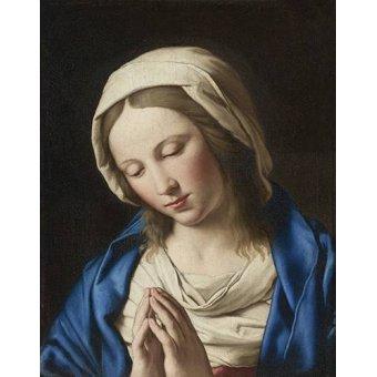 Tableaux religieuses - Tableau -La Virgen Rezando (II)- - Sassoferrato
