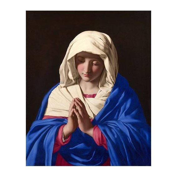 imagens religiosas - Quadro -La Virgen rezando, 1640-50-