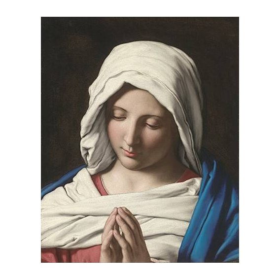 imagens religiosas - Quadro -La VIrgen Rezando-