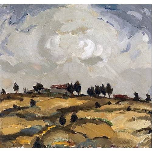 Tableau -Autumn landscape with clouds-