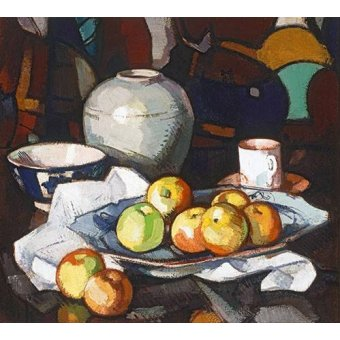 Tableaux nature morte - Tableau -Still life apples and jar- - Peplow, Samuel