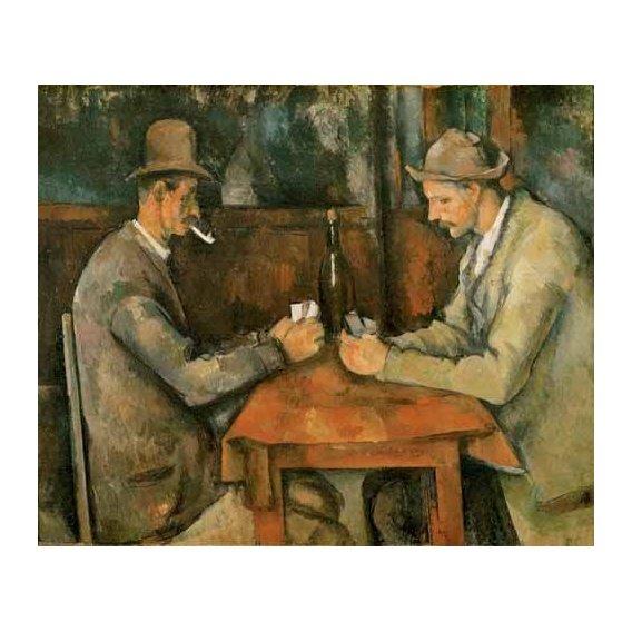 pinturas do retrato - Quadro -Los jugadores de cartas, 1890-