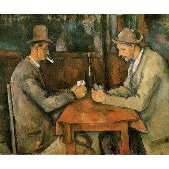 Tableaux de Personnages - Tableau - Les Joueurs de cartes, 1890 - - Cezanne, Paul