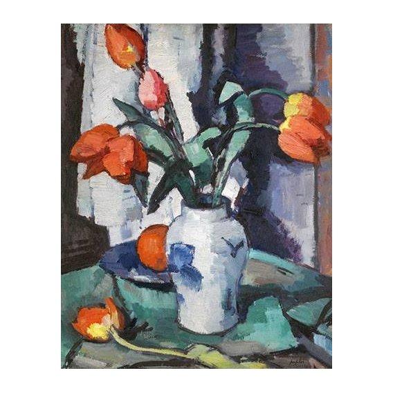 imagens de flores - Quadro -Orange tulips, Chinese Vase-