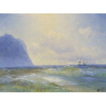 Tableaux de paysages marins - Tableau -Ship at sea- - Aivazovsky, Ivan Konstantinovich