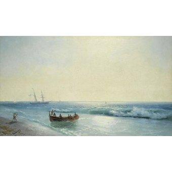 Tableaux de paysages marins - Tableau -Sailors coming ashore- - Aivazovsky, Ivan Konstantinovich