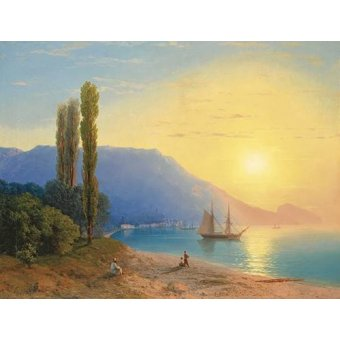 Tableaux de paysages marins - Tableau -Atardecer sobre Yalta- - Aivazovsky, Ivan Konstantinovich