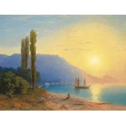 Tableau -Atardecer sobre Yalta-
