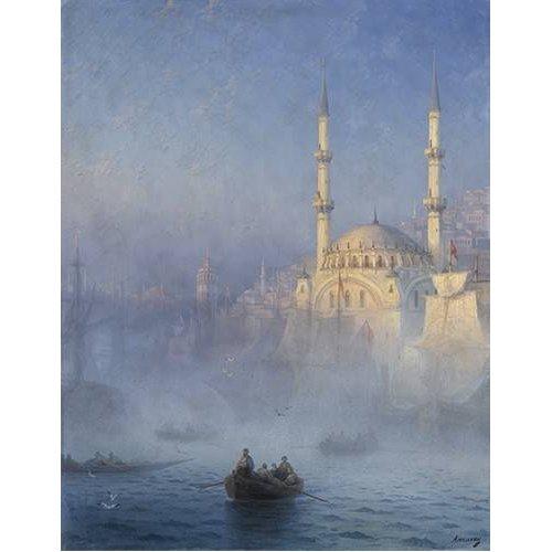 pinturas de paisagens marinhas - Quadro -Constantinopla-