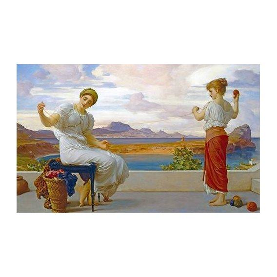 pinturas do retrato - Quadro -Winding the skein-