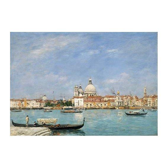 pinturas de paisagens marinhas - Quadro -Venice, Santa Maria della Salute from San Giorgio-