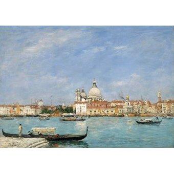 Tableaux de paysages marins - Tableau -Venice, Santa Maria della Salute from San Giorgio- - Boudin, Eugene