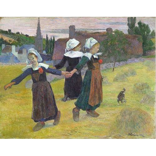 Tableau -Breton Girls Dancing, Pont-Aven-