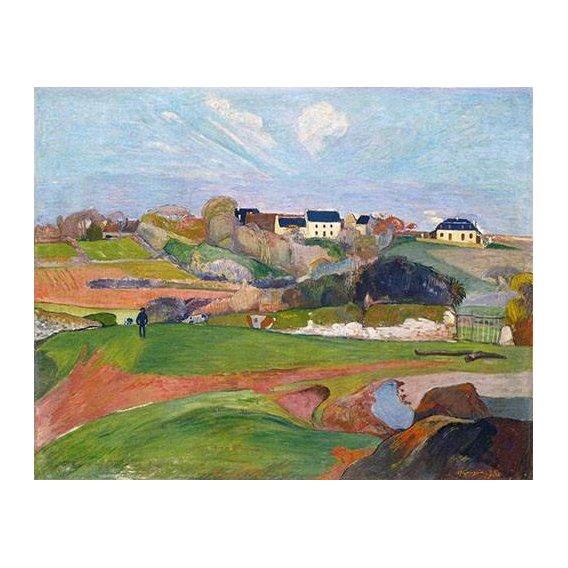 pinturas de paisagens - Quadro -Paisaje en Le Pouldu, 1890-